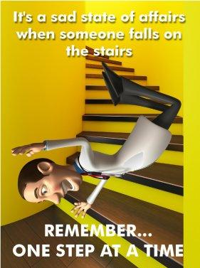Charmant Safety Poster   Stair Case
